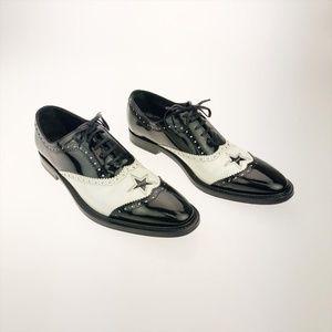 Dolce & Gabbana Patent Leather Tuxedo Dress Shoes